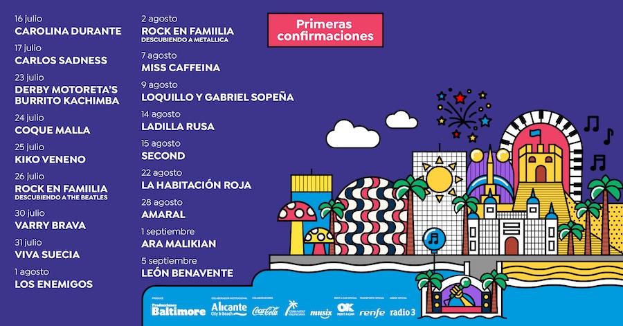 Conciertos Noches Mediterráneas en Alicante