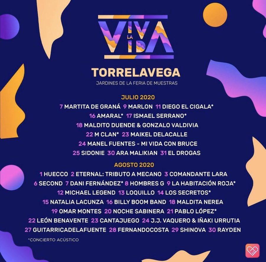 Viva La Vida Festival en Torrelavega: fechas, cartel y entradas