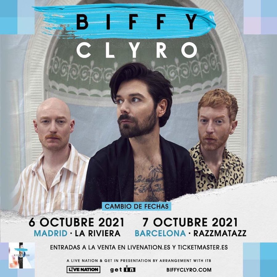 Conciertos de Biffy Clyro en Madrid y Barcelona 2021