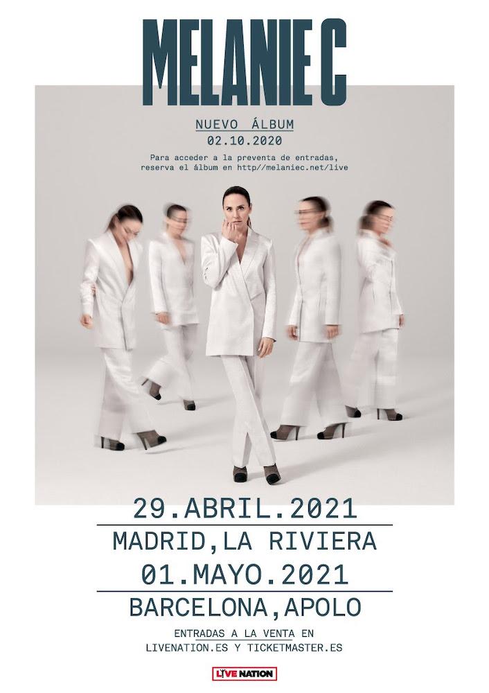 Conciertos de Melanie C en Madrid y Barcelona en 2021