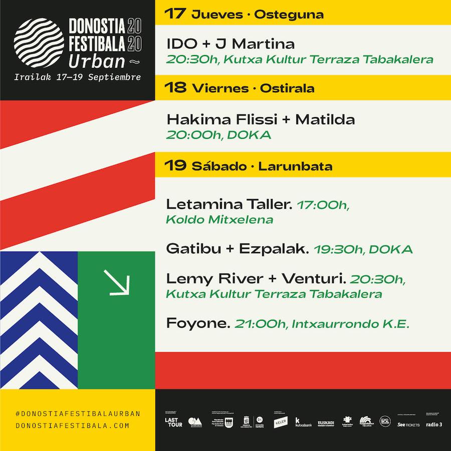 Donostia Festibala 2021 - Cartel y horarios