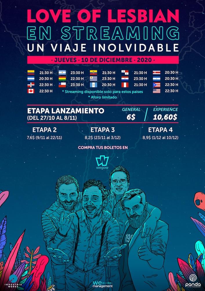 Concierto Love Of Lesbian en Latinoamérica