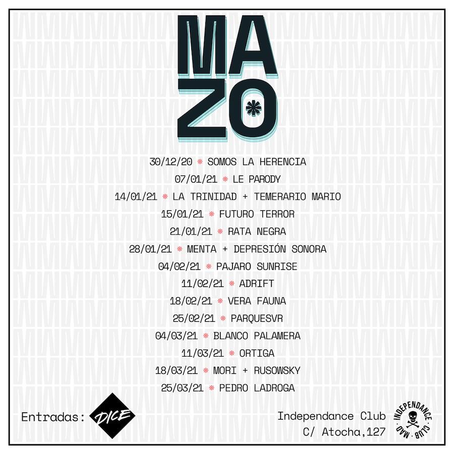 MAZO: ciclo de conciertos en Madrid