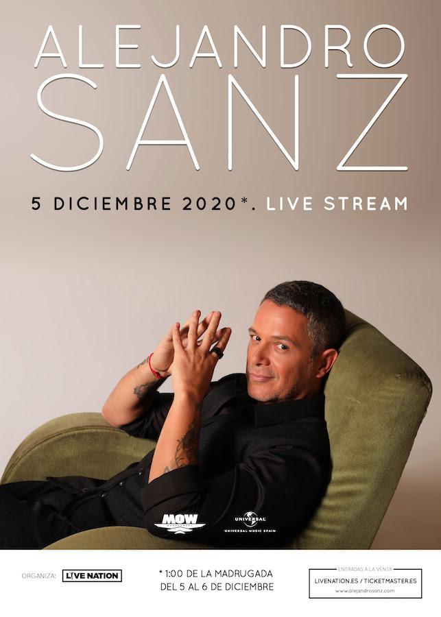 Concierto de Alejandro Sanz en streaming