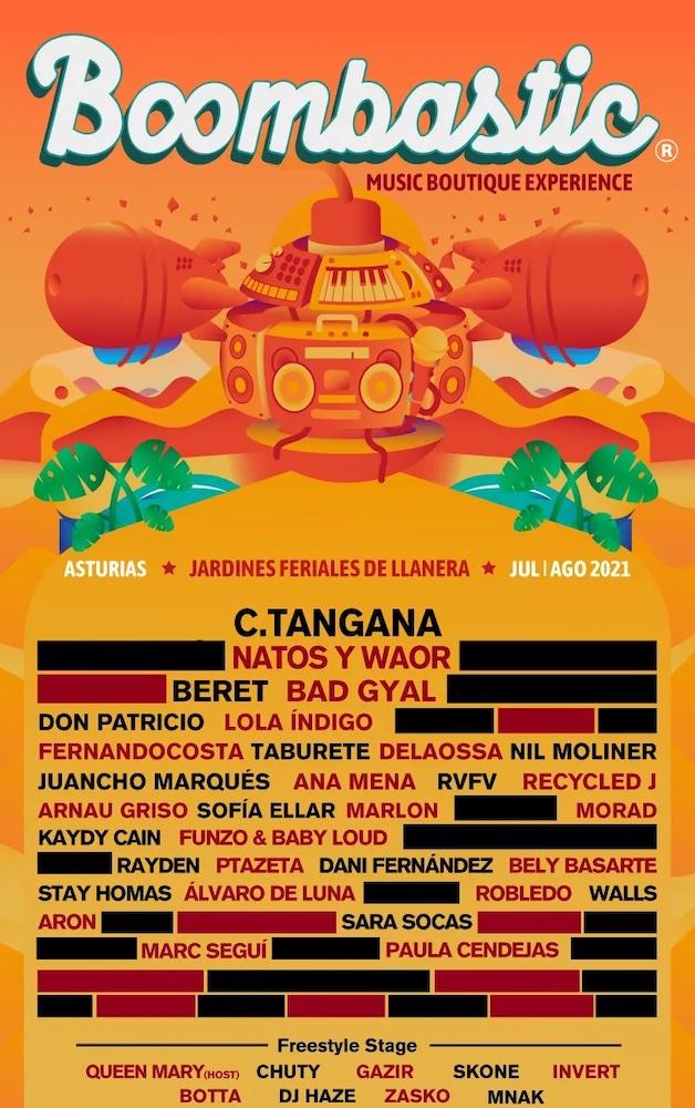 Boombastic Festival 2021 - Cartel