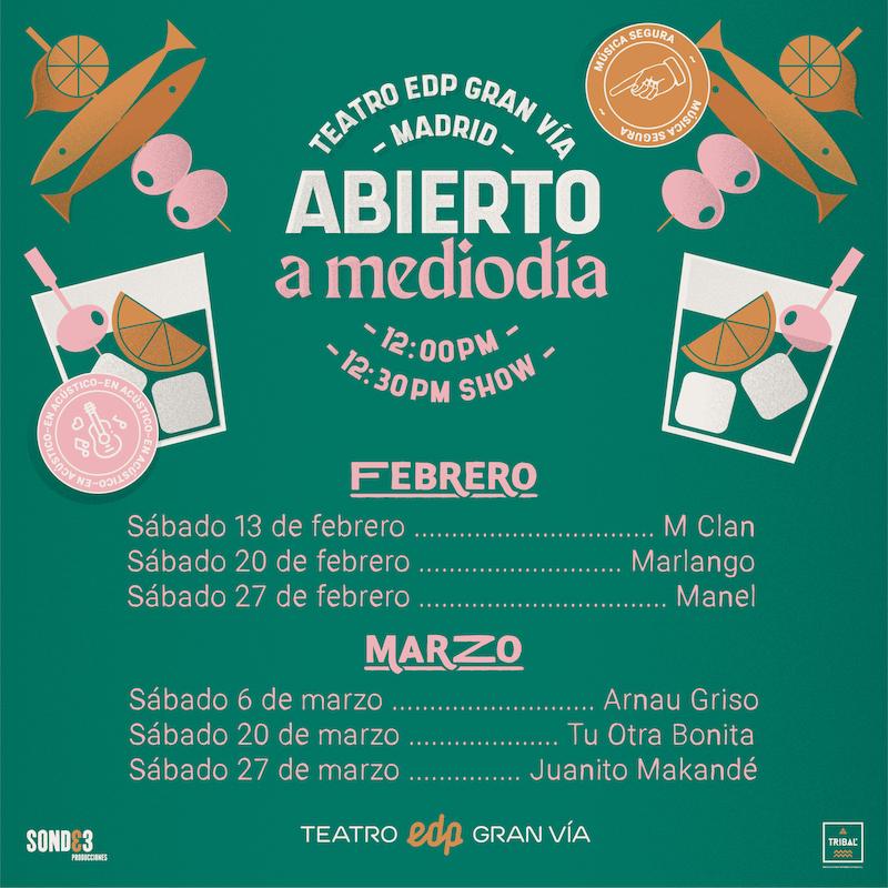 Abierto a mediodía - Ciclo conciertos Madrid