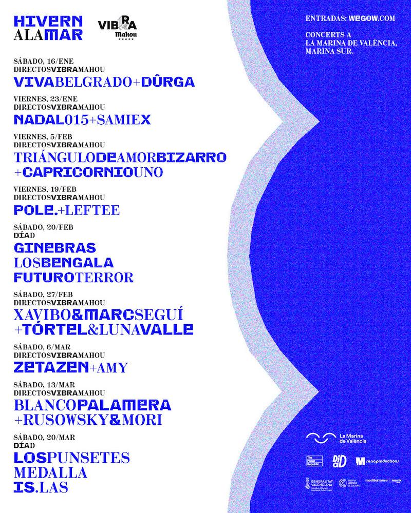 Ciclo de conciertos Hivern a la Mar en Valencia