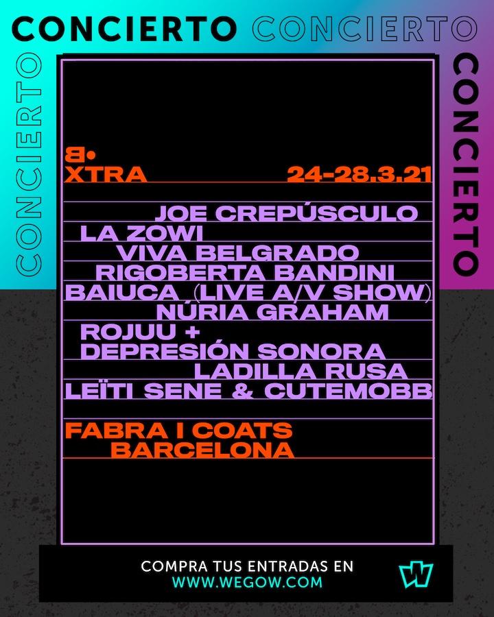 Cara•B XTRA 2021 : Ciclo de conciertos
