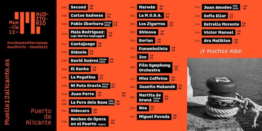 Muelle 12: ciclo de conciertos y gastronomía en Alicante