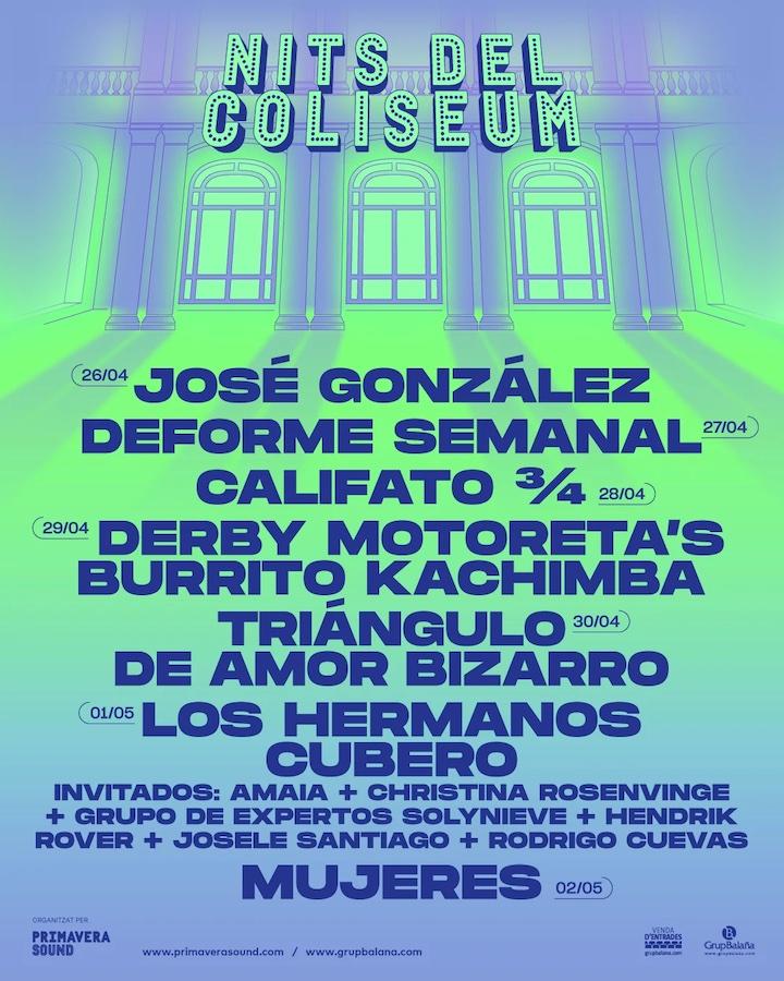 Nits del Coliseum - Conciertos en Barcelona