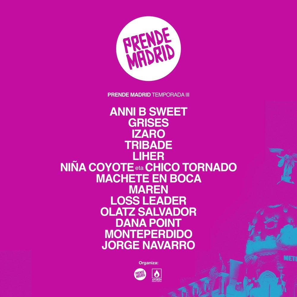 Prende Madrid 2021 - Conciertos y Fechas