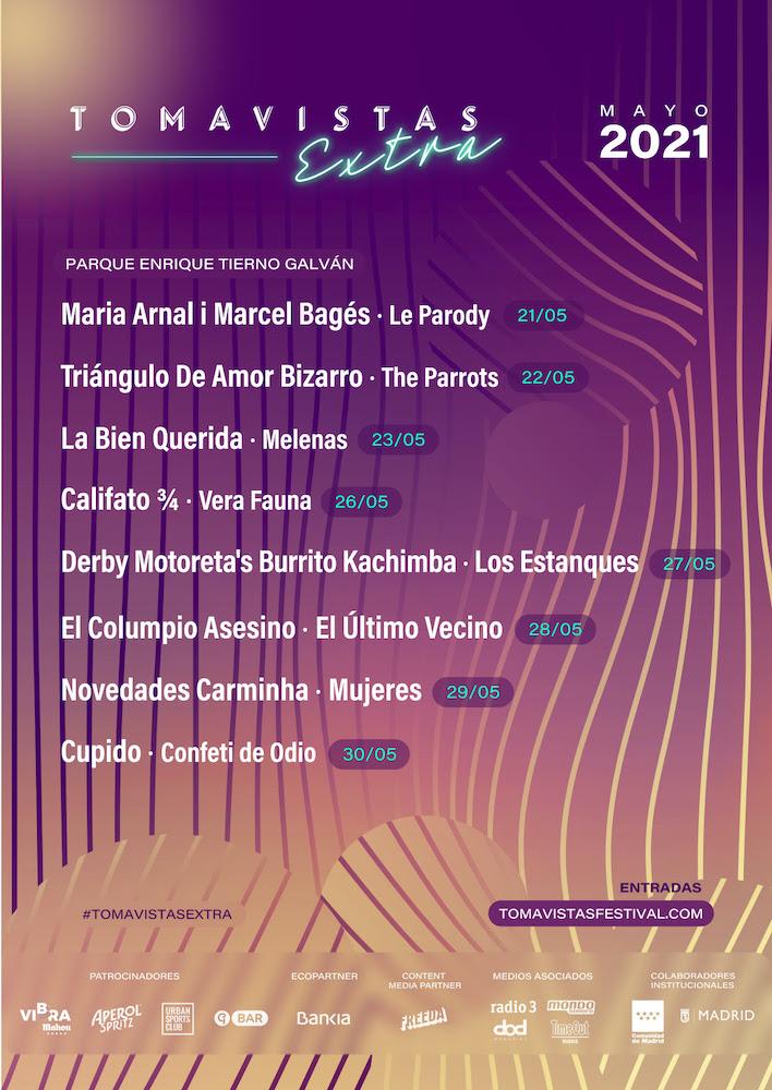 Tomavistas Extra 2021: conciertos y fechas
