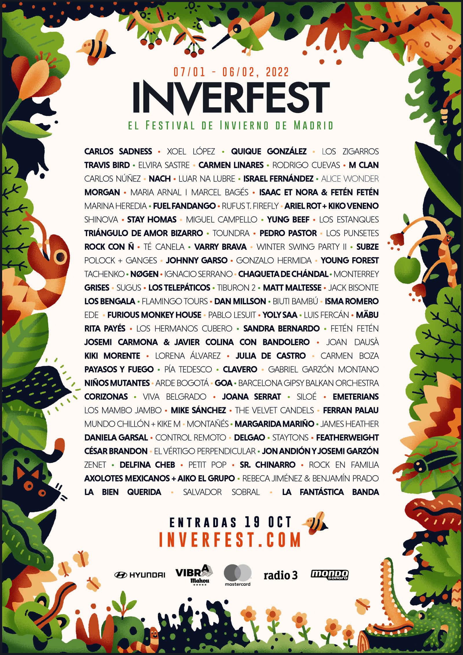 Cartel Inverfest 2022 en Madrid