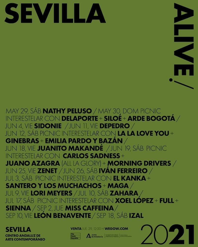 Sevilla Alive 2021 - cartel, conciertos y entradas