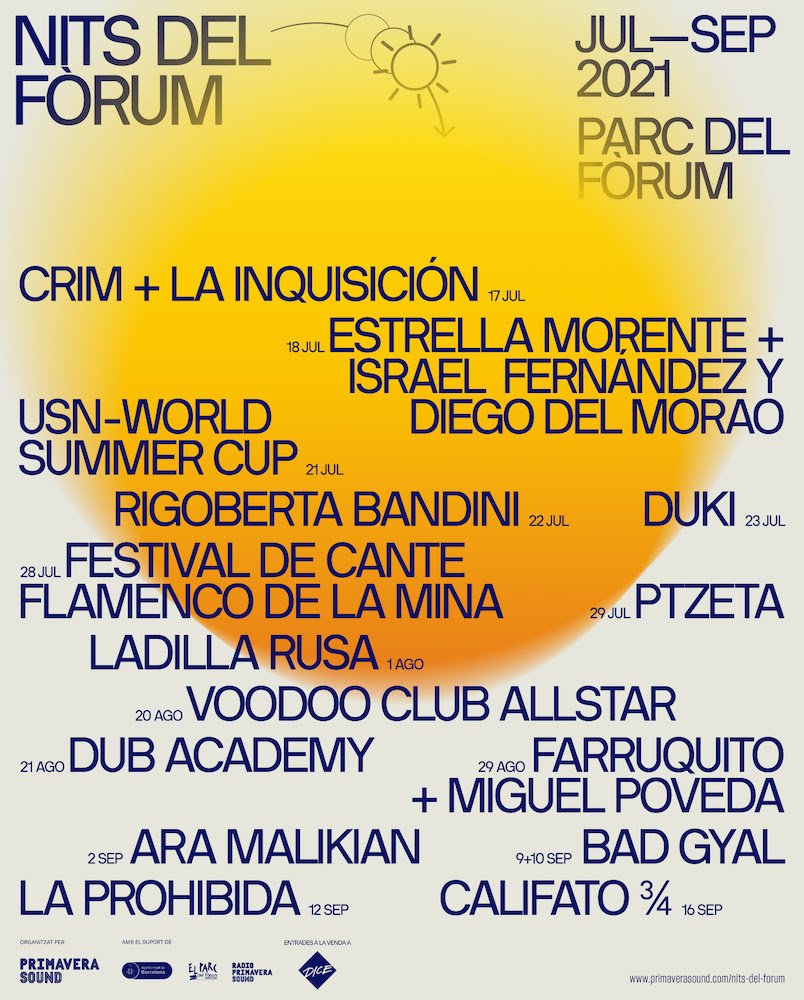 Nits del Fòrum 2021: conciertos en Barcelona