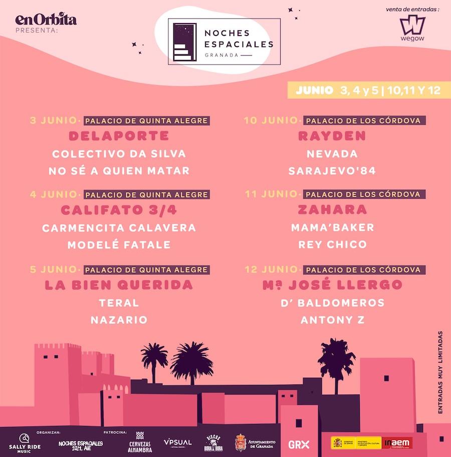 Noches Espaciales 2021 - Conciertos en Granada