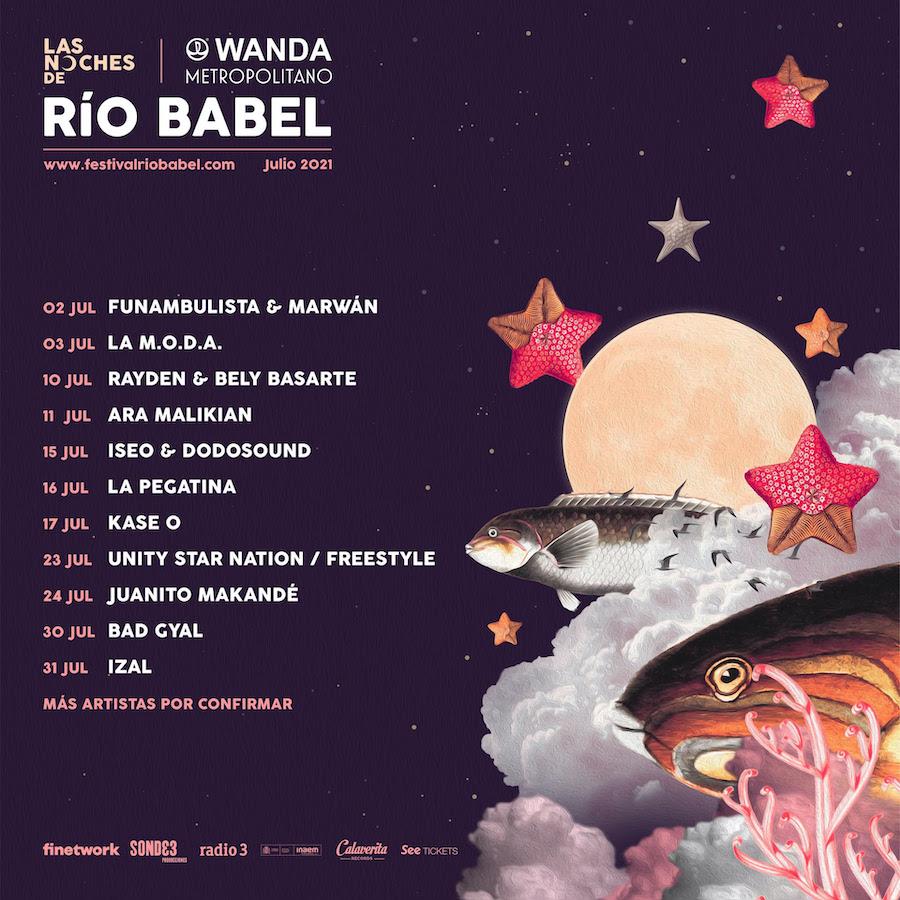 Las Noches de Río Babel 2021: conciertos y fechas