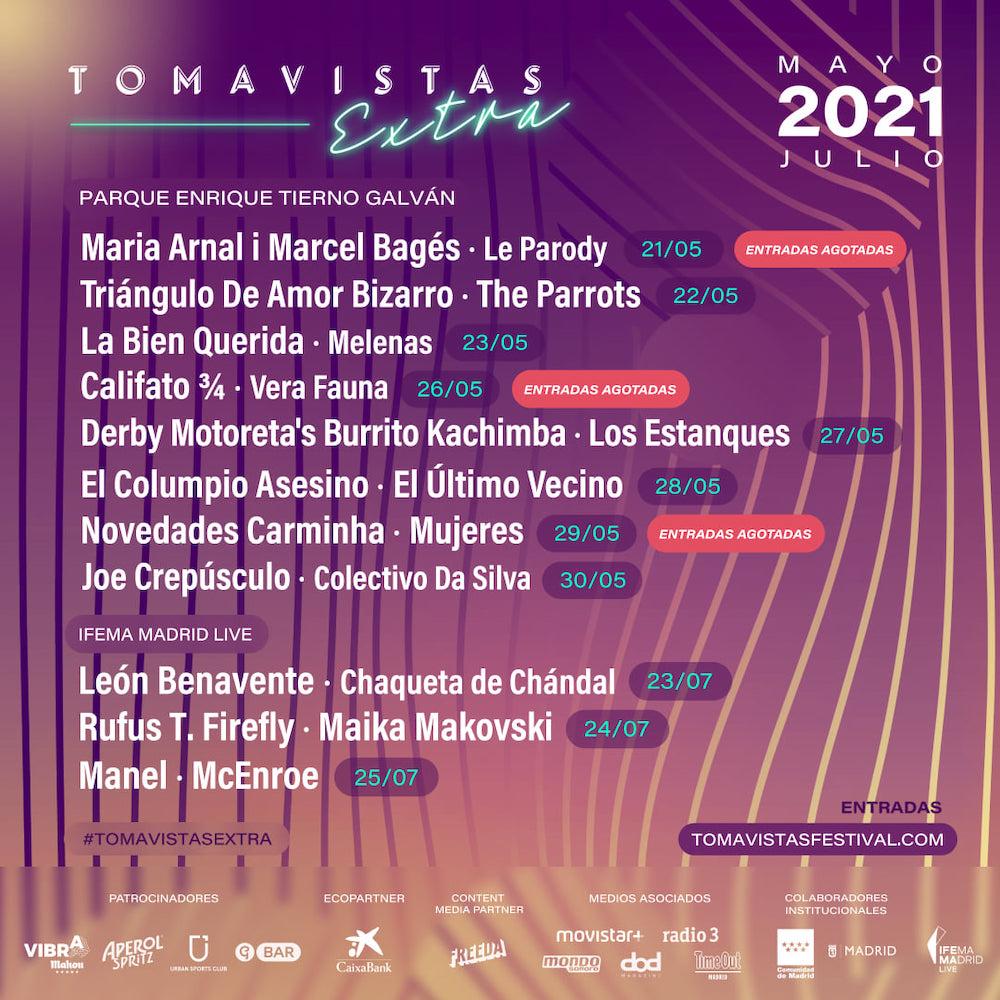 Tomavistas Extra 2021: cartel y fechas