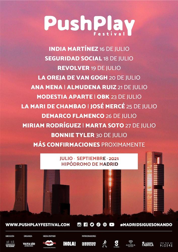 Push Play Festival 2021 en Madrid: conciertos, fechas y entradas