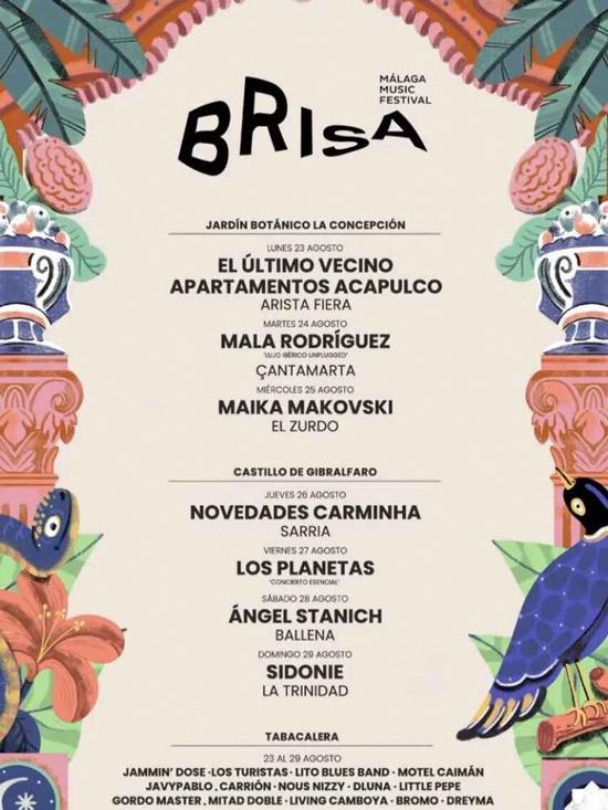Brisa Festival : Ciclo de conciertos en Málaga
