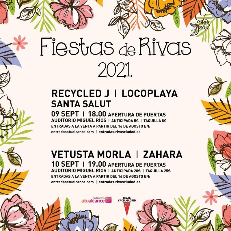 Fiestas de Rivas 2021: conciertos, fechas y entradas