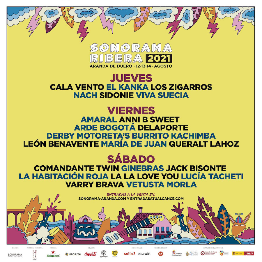 Sonorama 2021: cartel por días