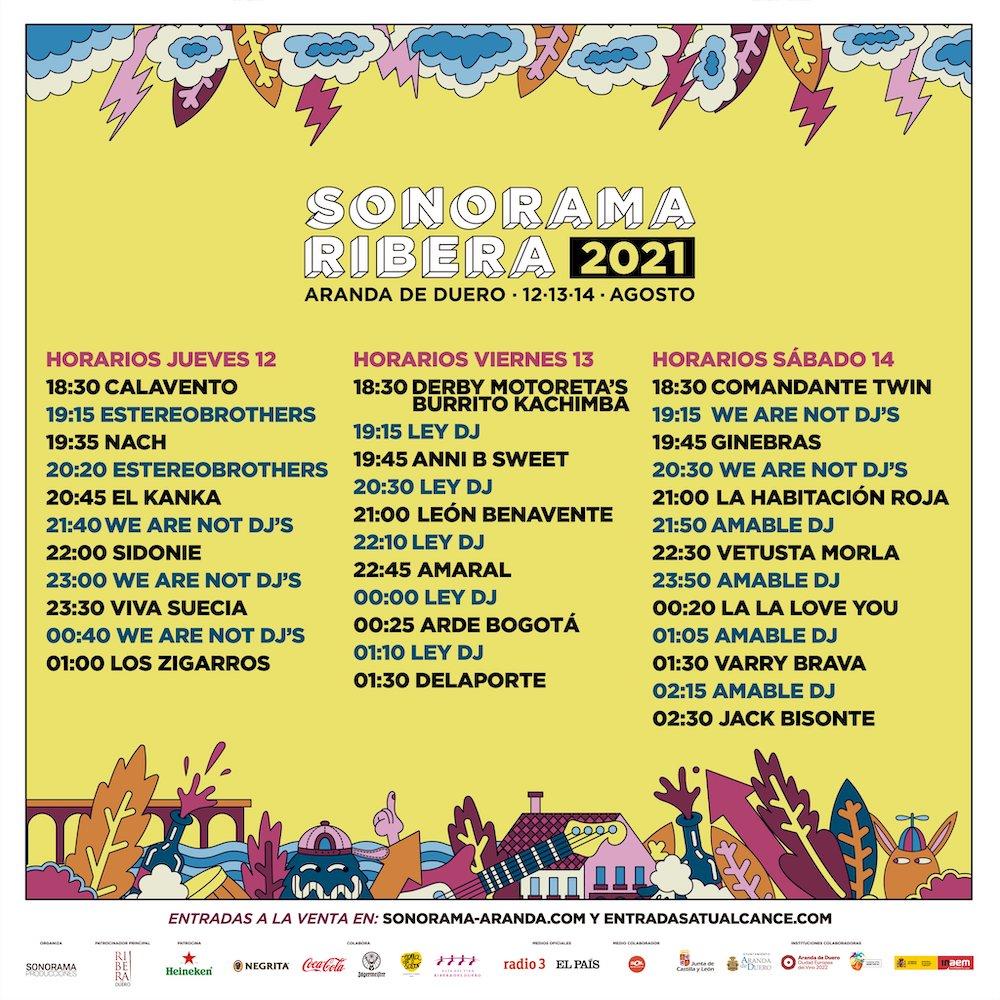 Horarios del Sonorama 2021