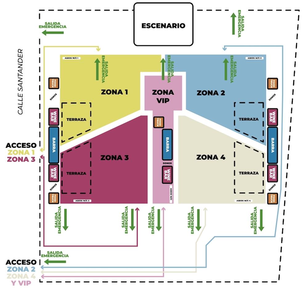 Sonorama 2021: mapa y accesos