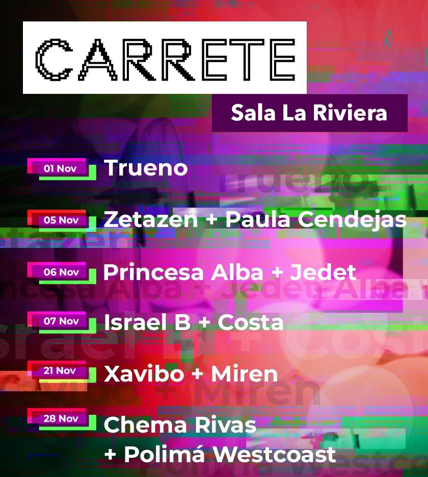 CARRETE 2021: ciclo de música urbana de Madrid