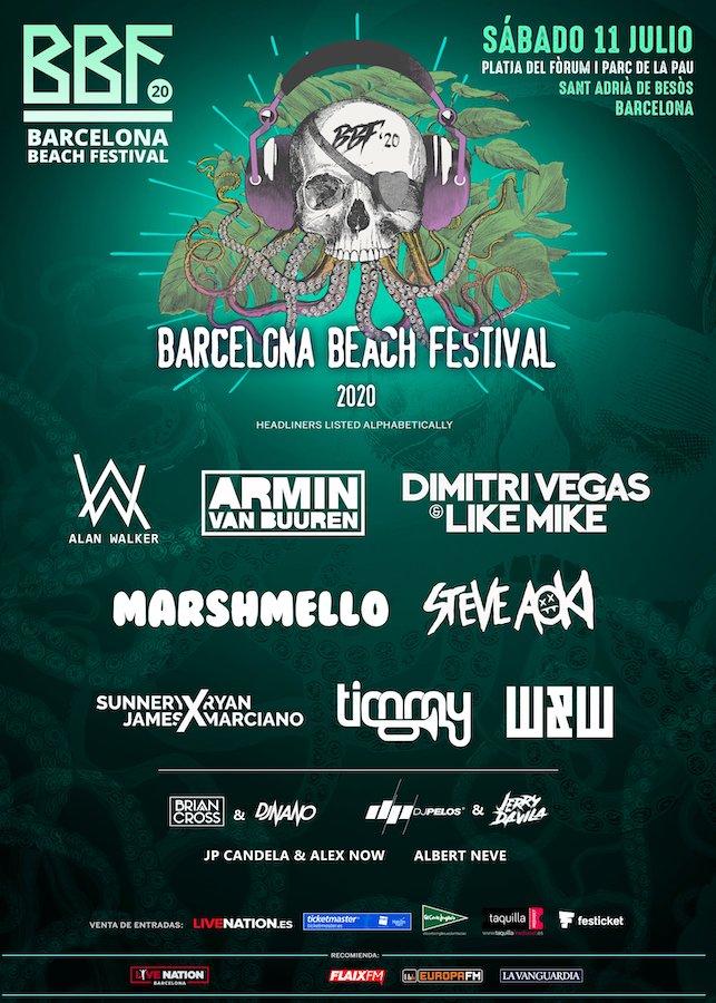 Cartel Barcelona Beach Festival 2020