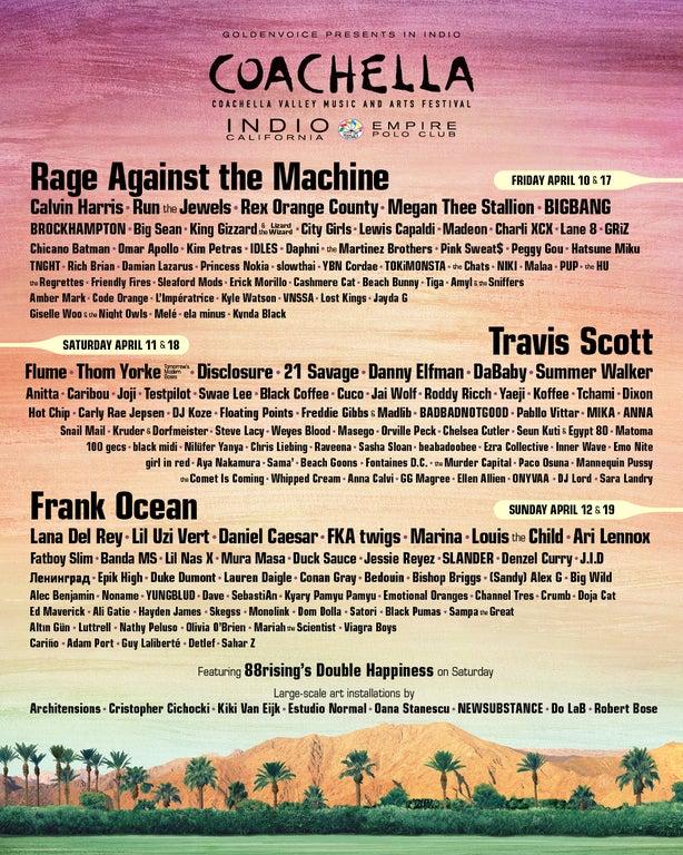 Cartel Coachella 2020