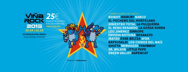 Viña Rock 2015 Cartel v1